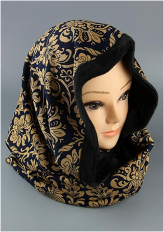 Снуд - шарф- капюшон с подкладом из иск.меха за 450 руб. Сбор 1