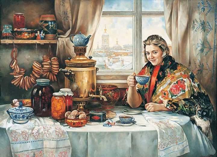 Зовут соседа к самовару, А Дуня разливает чай, Ей шепчут: Дуня, примечай! (с) Пушкин А.С., русский поэт