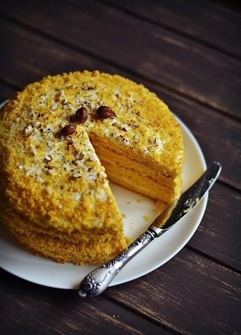 Тыквенно-апельсиновый торт.