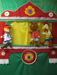 Игрушки для домашнего кукольного театра - подари ребенку радость. Перчаточные куклы, шагающие, куклы с открывающимся ртом, мини-театр, пальчиковый театр, наборы сказок. Карнавальные костюмы. Очень привлекательные цены - от 99 рублей