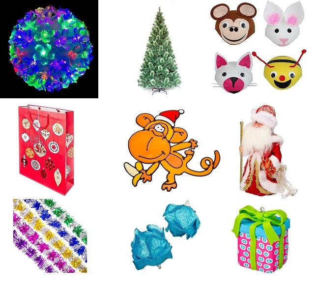 Сбор заказов. Новый год к нам мчится! Декорации, игрушки, мишура, гирлянды. Елки. Карнавальные костюмы, аксессуары, сувениры.