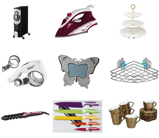 3000 идей подарков! Мелкая бытовая техника: от блендеров, фенов, утюгов до мультиварок! Atlanta, Zauber. Посуда