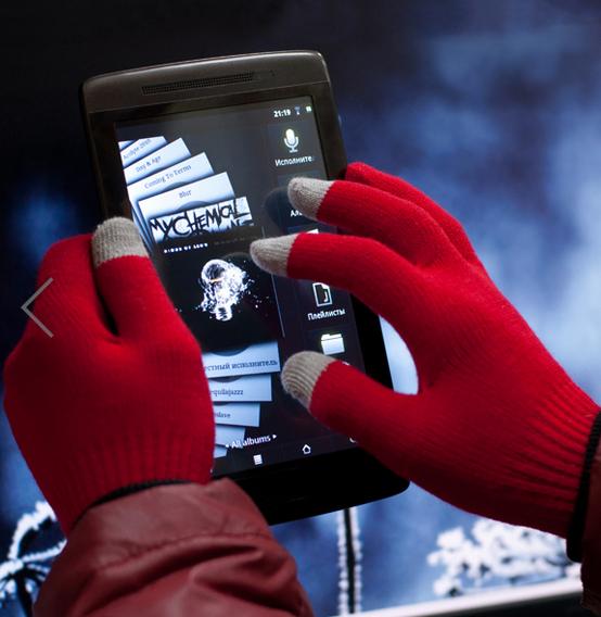 Сенсор не придется нажимать носом: теплые перчатки iGlover для сенсорных телефонов, смартфонов, планшетов. Выкуп 2/15.