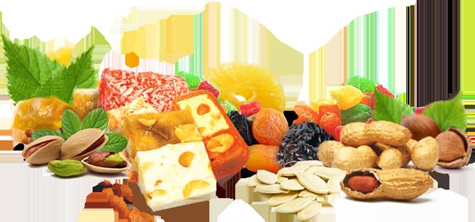 На сладкое! Сухофрукты, орехи, цукаты, восточные сладости, жевательный мармелад, много всего вкусного-вкусного)