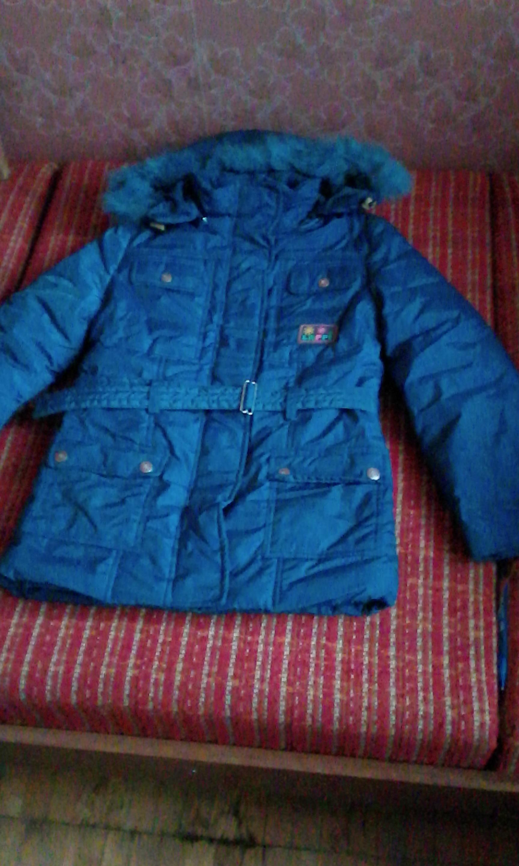 зимняя куртка для девочки р 32