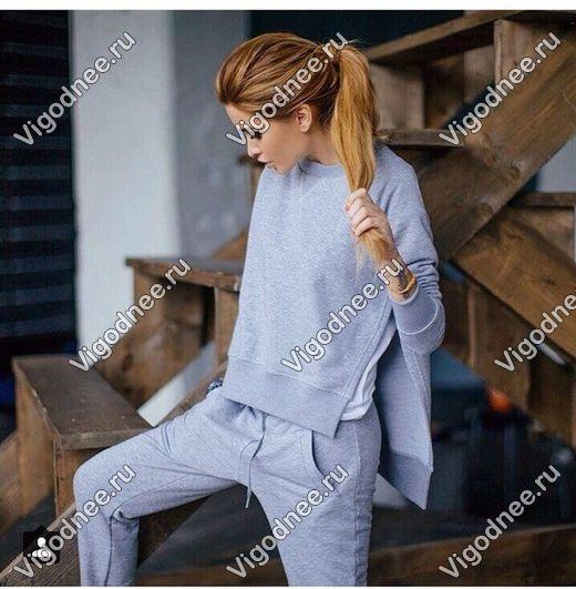 Копии брендов. Утепленные женские костюмы от 876руб, штаны на флисе 500,море свитшотов и туник 500р. Появились утепленные коcтюмы с жилетками на меху! Галереи. Без рядов-11