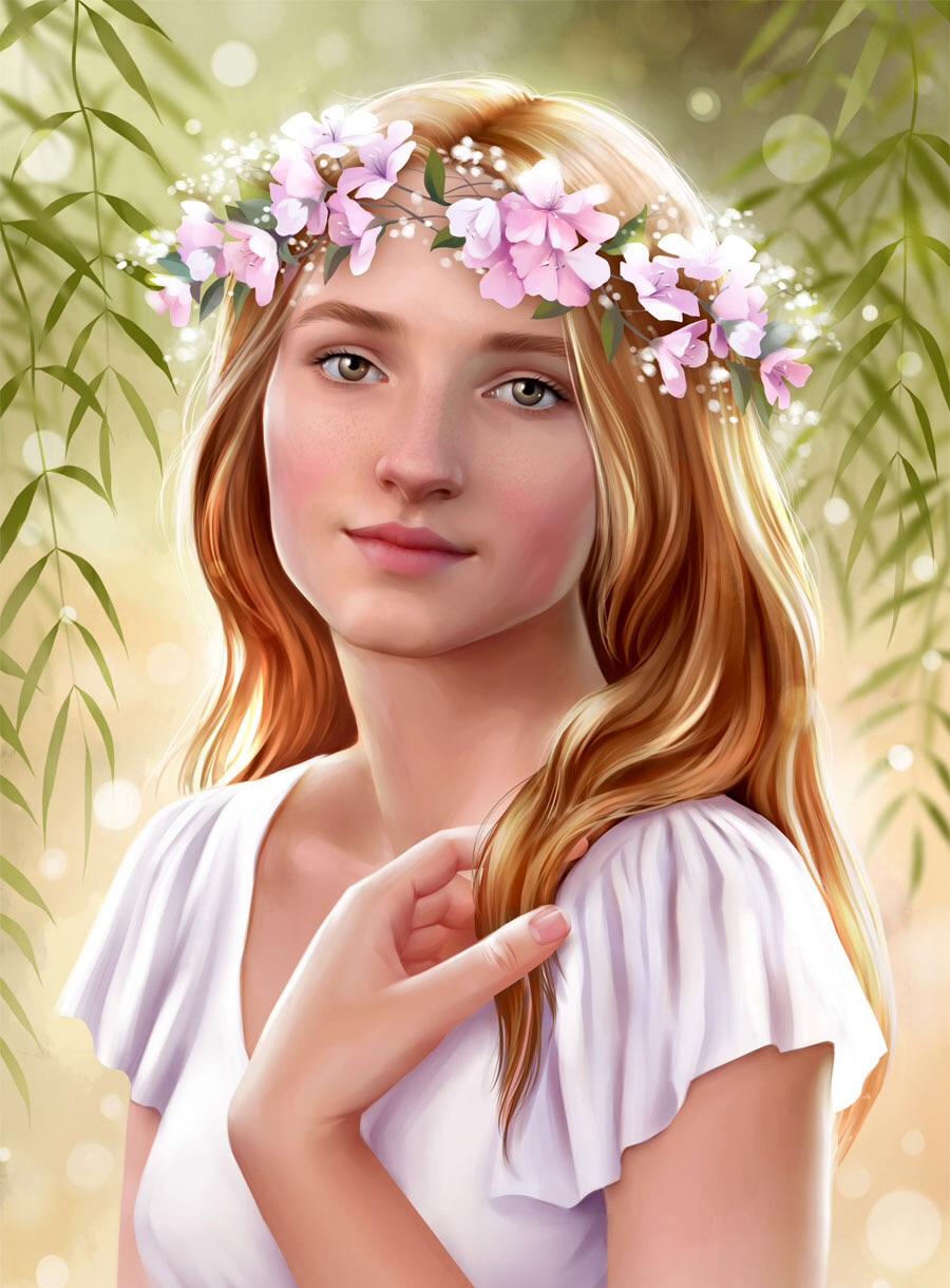 Девочка в белом.