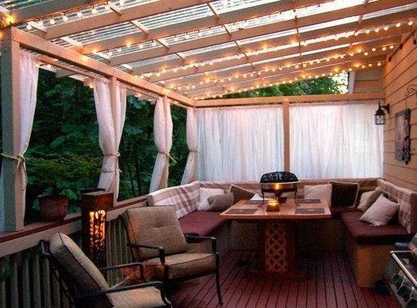 Уютная терраса для посиделок с друзьями