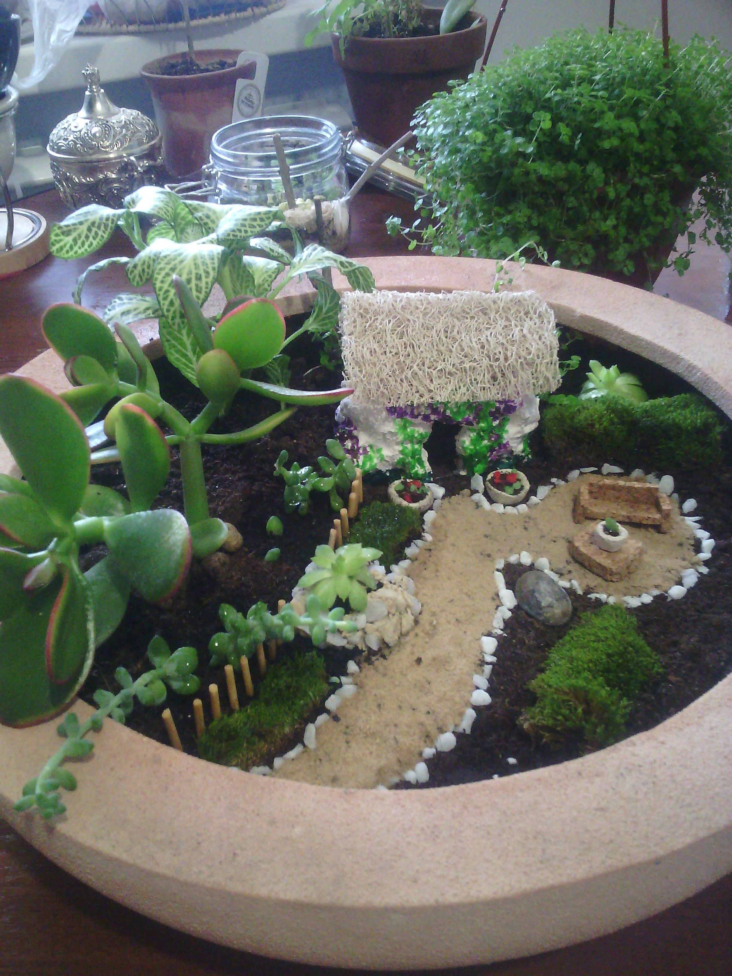 Миниатюрный садик от Greenland Studio