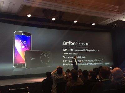 Камерофон Asus Zenfone Zoom прошел сертификацию