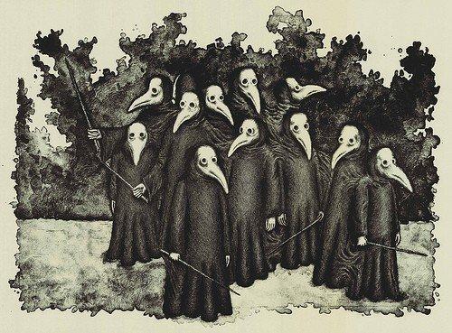 Почему врачи во время бубонной чумы носили такую странную одежду