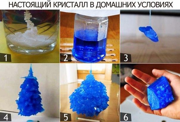 Как вырастить кристалл домашних условиях видео