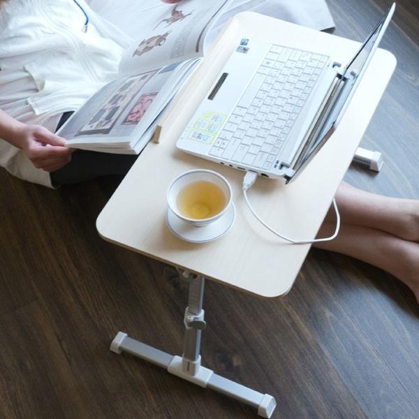 Простые и удобные столики для ноутбука, со встроенным вентилятором охлаждения и USB-хабом.