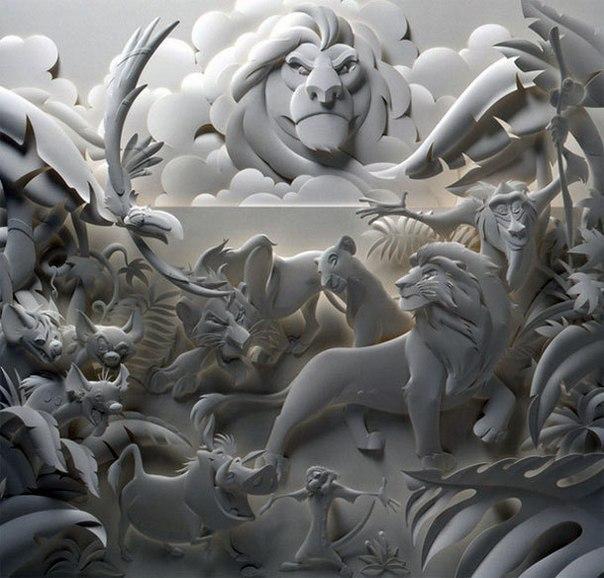 Бумажная 3D-скульптура