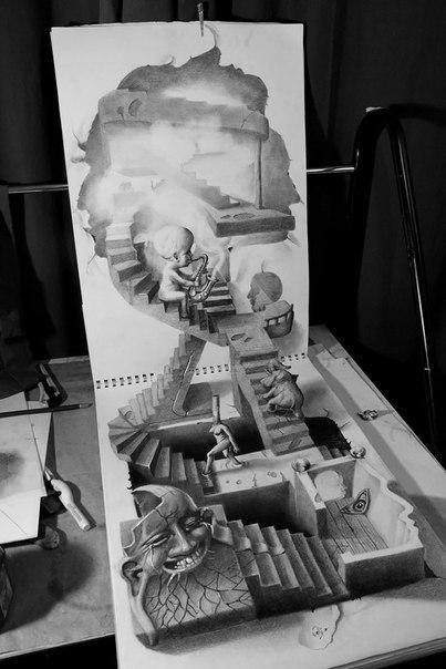3D рисунок карандашом