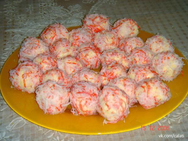 Крабовый салат шариками