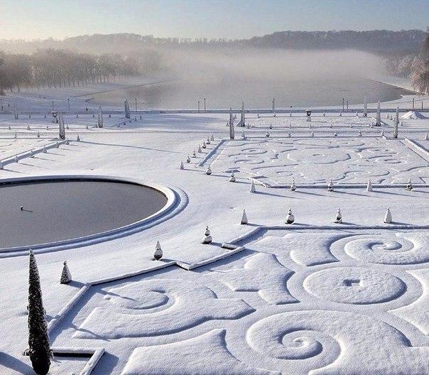Версаль зимой, Франция