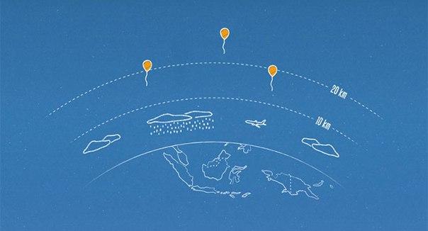 В Индонезии будет реализован интернет-доступ через воздушные шары в рамках проекта Google Project Loon