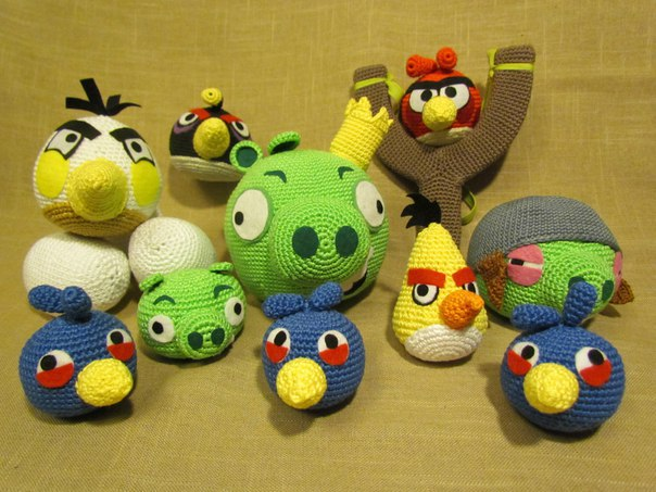 Сбор заказов. Вязаные игрушки из хлопка. Миньоны и Аngry birds. Отличные подарки