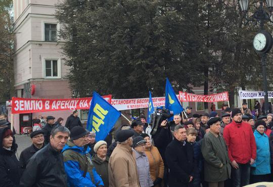 НРО ЛДПР приняло участие в пикете за сохранение нижегородских ГСК