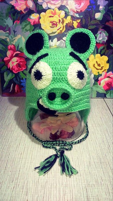 King Pig, Angry Birds. Шапочка для малышей от года до двух лет. всего 500 руб!