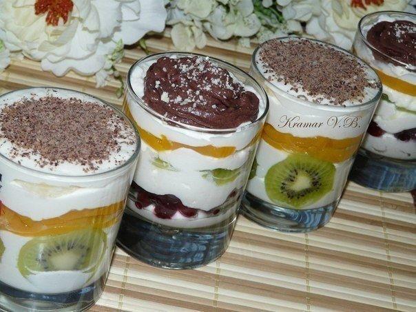 Десерт творожный - просто пальчики оближешь! Домашние его обожают!