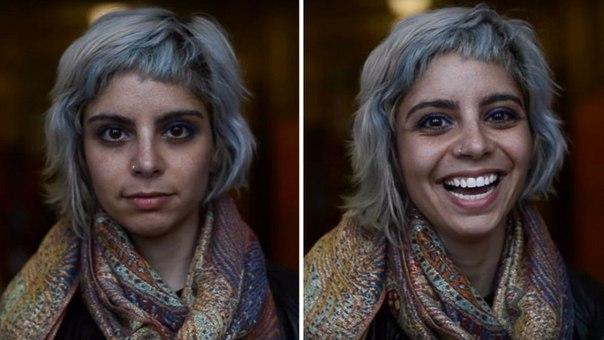 Вы красивы. Фотограф показал, что происходит с людьми, когда им говорят, что они красивы.