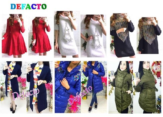 Новая закупка! DеFасtо, симпатичные модные платья, кардиганы, куртки. Есть распродажа от 490 руб!