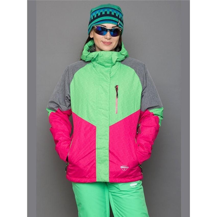 Пристрой-Горнолыжная куртка SLV B036 Green Red цена суперакции 2350 р+ 5% р. 42 российский 1 шт.