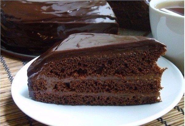 Быстрый шоколадный торт.