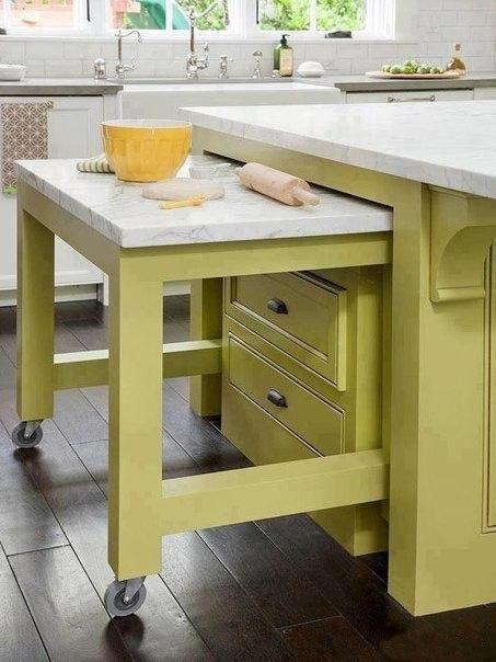 Интересная идея для кухонь с небольшой площадью
