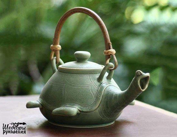 Чайник-черепашка