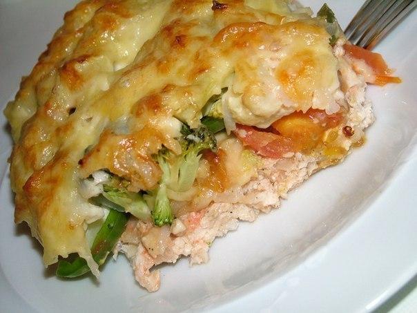 Запеканка с куриным филе и овощами
