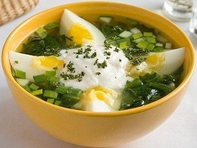 Овощной супчик с яйцом. 43 ккал
