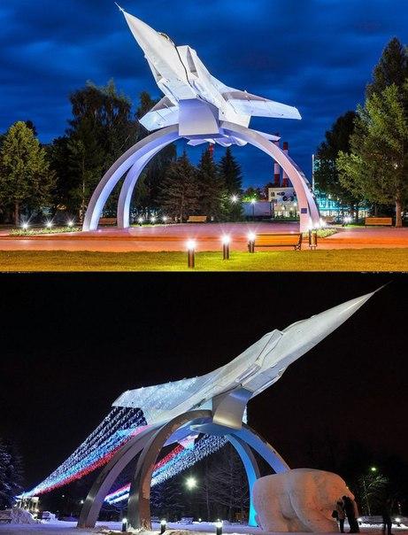 В Перми установили памятник Миг-31. Красота!