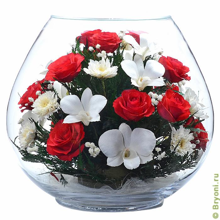 Натуральные цветы в стекле феерия красоты и стиля!Страстные и нежные, яркие и утонченные, здесь вы найдете композиции
