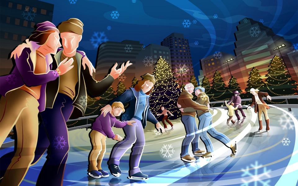 16:30 На Рождественской с коньками, встречаемся...