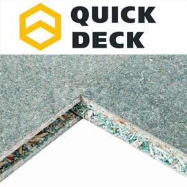 Влагостойкая древесно-стружечная шпунтованная плита QuickDeck (Квик Дек)