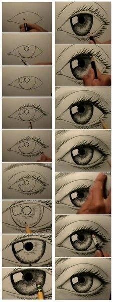 Учимся рисовать глаза.