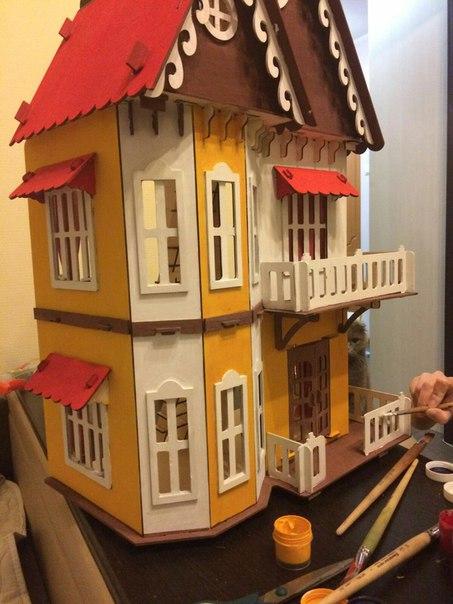 Сбор заказов. Кукольный Чудо-домик из дерева и мебель для него! Подойдет для маленьких куколок или зверюшек. Сделано в России. Доступная цена. Готовим подарки к 8у марта!