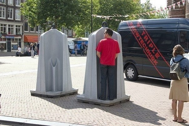 Пожалуй самый необычный туалет в мире. Голландия