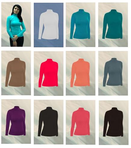 Женские водолазки, майки, футболки от 135р более до 58р-ра 20 расцветок из ткани европейских и турецких производителей