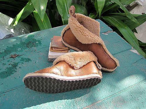 Шьем обувь из старой дубленки. MK