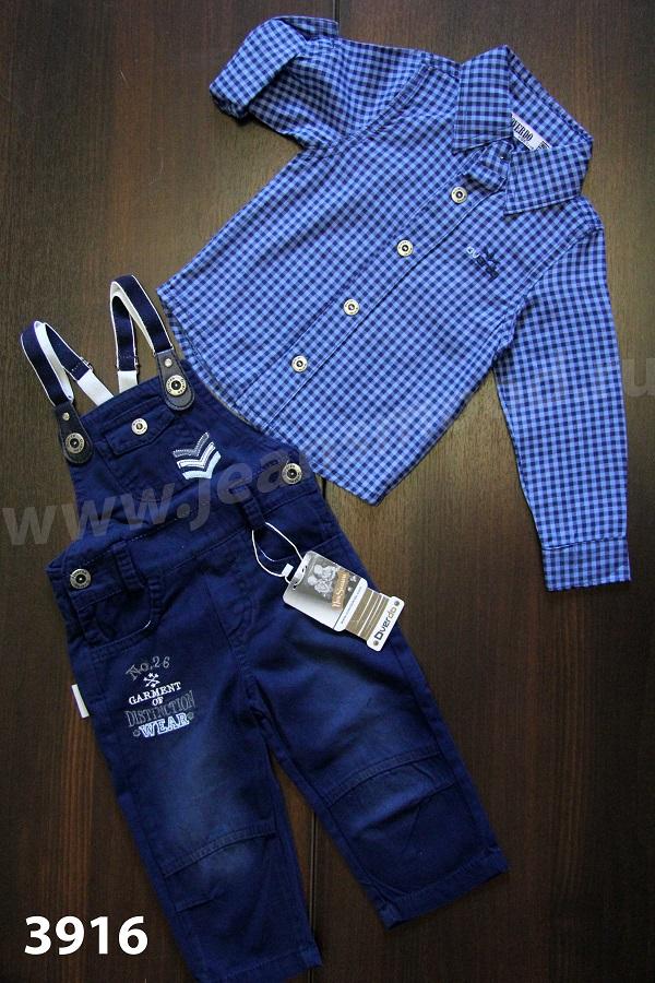 Джинсовые костюмы для мальчиков и девочек