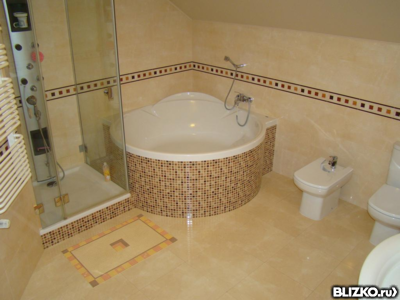Ванная под ключ. Монтаж теплого пола от 600 руб.за кв.м