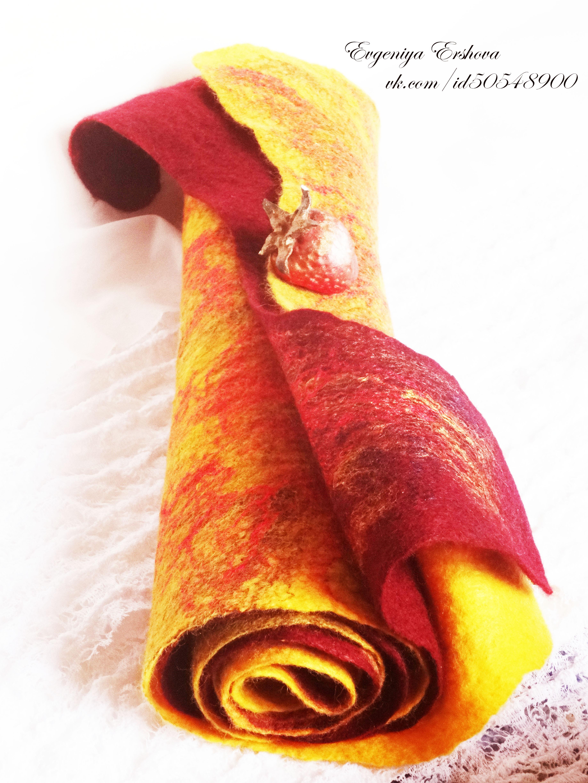 Теплые тонкие валяные шарфики на заказ!