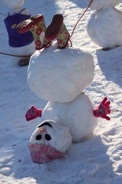 Идея для снеговика
