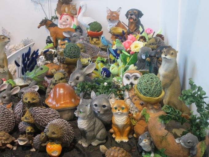 Украсим наш сад! Качественные декоративные фигурки, статуэтки и изделия из П0лист0уна.
