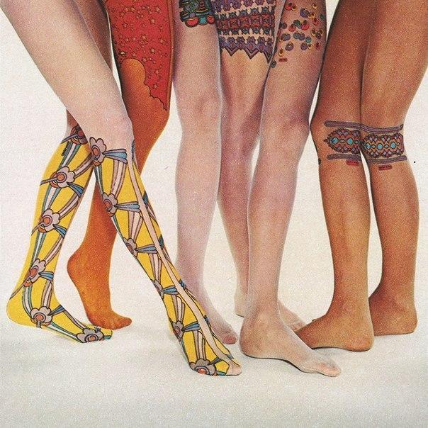 Оригинальный дизайн колготок, 1970 г.