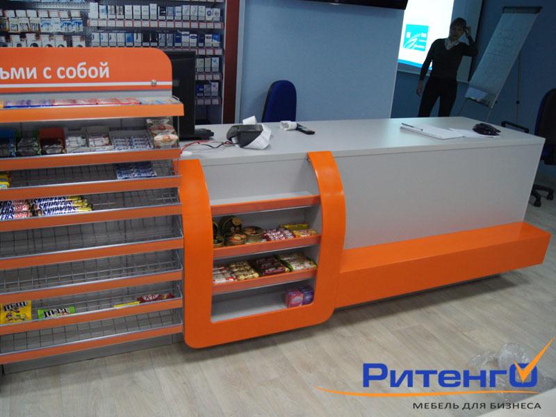 Прикассовое оборудование для магазинов. Прикассовая зона, торговое оборудование для магазина самообслуживания.